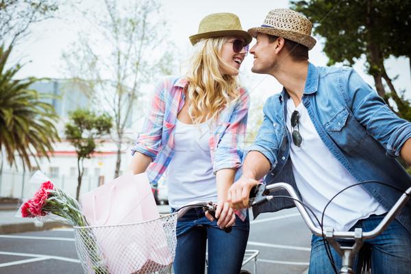 бедро велосипедов город цветок Сток-фото © wavebreak_media