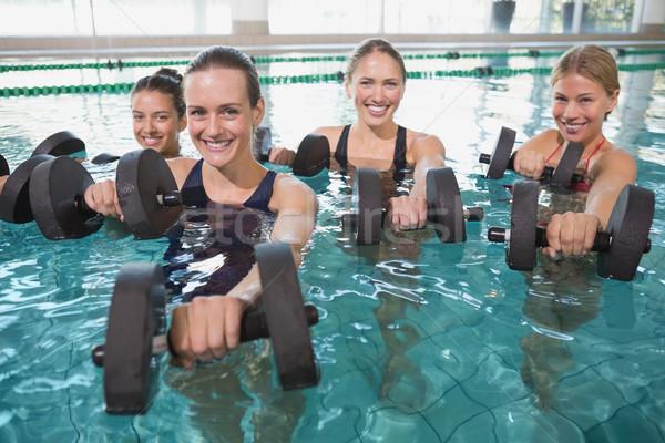 Sorridere femminile fitness classe aerobica Foto d'archivio © wavebreak_media