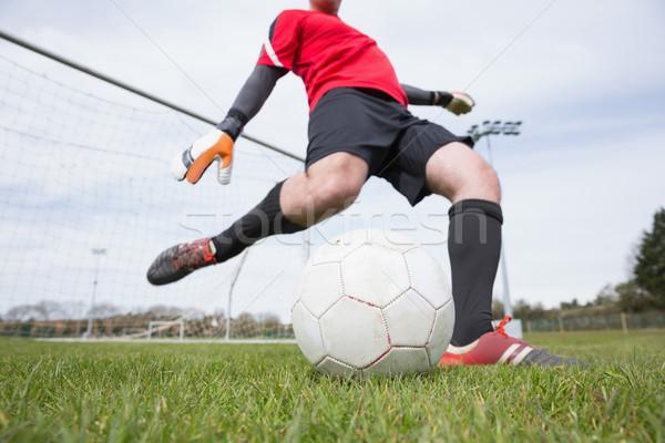 вратарь красный мяча далеко цель Сток-фото © wavebreak_media
