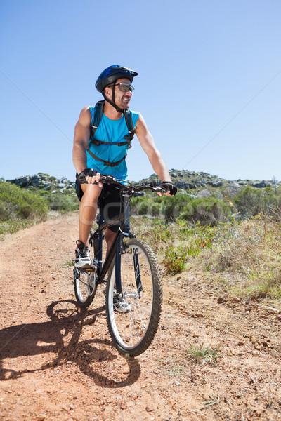 соответствовать велосипедист верховая езда счастливым Сток-фото © wavebreak_media