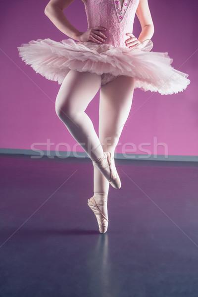 Graceful ballerina dancing en pointe Stock photo © wavebreak_media