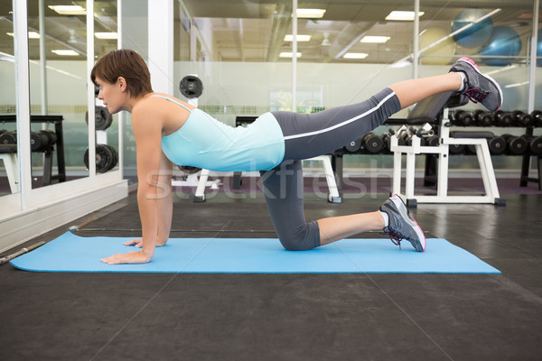 S'adapter brunette pilates exercice sport corps Photo stock © wavebreak_media