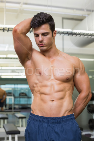 Serious shirtless muscular man in gym Stock photo © wavebreak_media