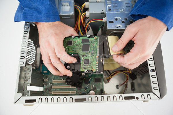 Ordenador ingeniero de trabajo roto CPU oficina Foto stock © wavebreak_media