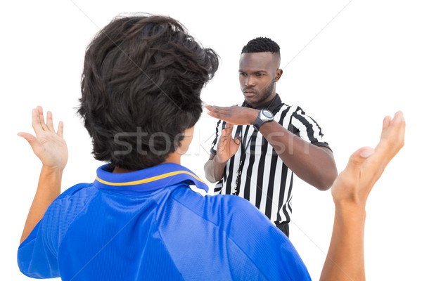 Serious referee showing time out sign to player Stock photo © wavebreak_media