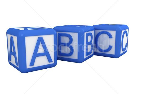 Kék fehér ábécé kockák Stock fotó © wavebreak_media