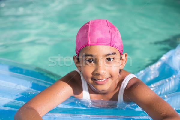 ストックフォト: かわいい · 女の子 · スイミングプール · レジャー · センター · 水