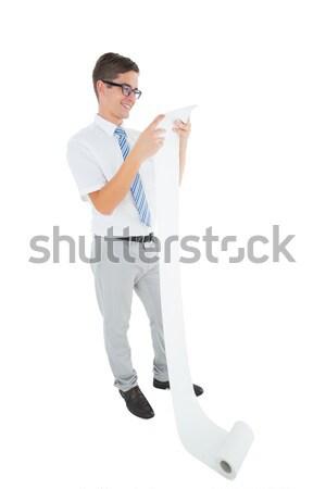 Man in casual clothes speaking on megaphone Stock photo © wavebreak_media