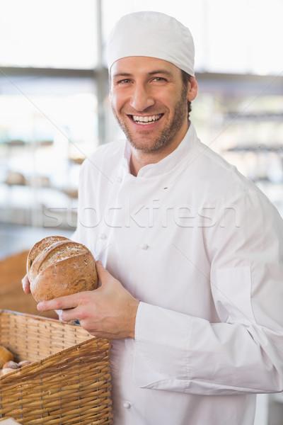 Boldog pék cipó kenyér konyha pékség Stock fotó © wavebreak_media