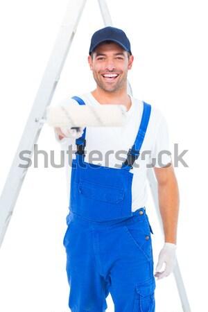Supervisor escrito notas guapo blanco Foto stock © wavebreak_media
