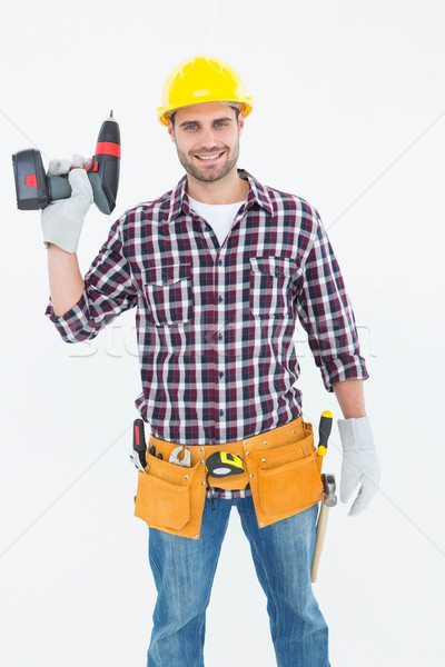 Mannelijke boor machine portret Stockfoto © wavebreak_media