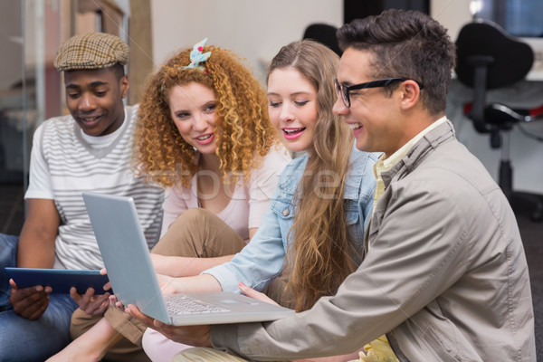 Stock photo: Fashion students working as a team