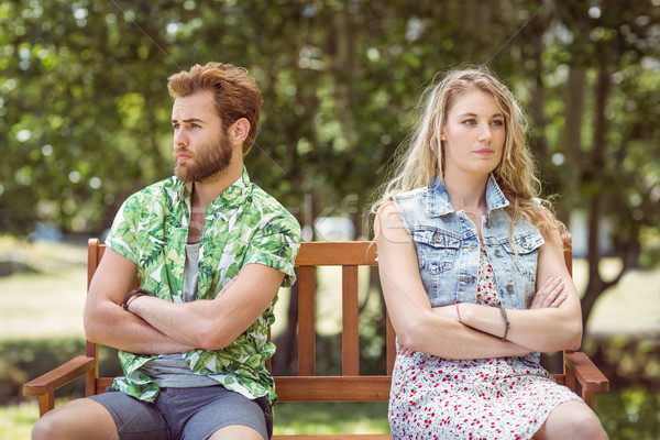 Young couple not talking after argument Stock photo © wavebreak_media