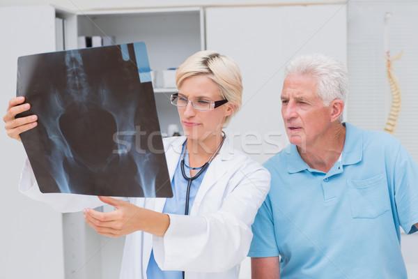 врач старший пациент Xray женщины Сток-фото © wavebreak_media