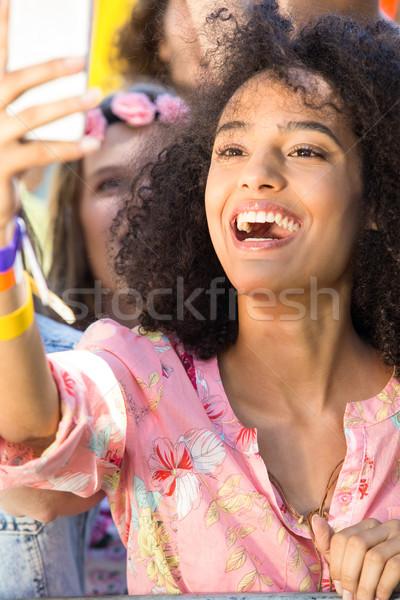 興奮した 音楽 ファン 祭り 女性 パーティ ストックフォト © wavebreak_media