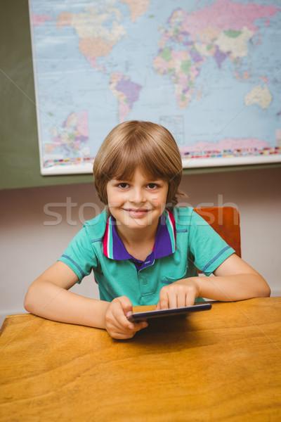 少年 デジタル タブレット 教室 肖像 ストックフォト © wavebreak_media