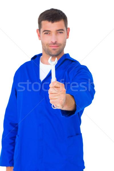 男性 メカニック スパナ 肖像 白 ストックフォト © wavebreak_media