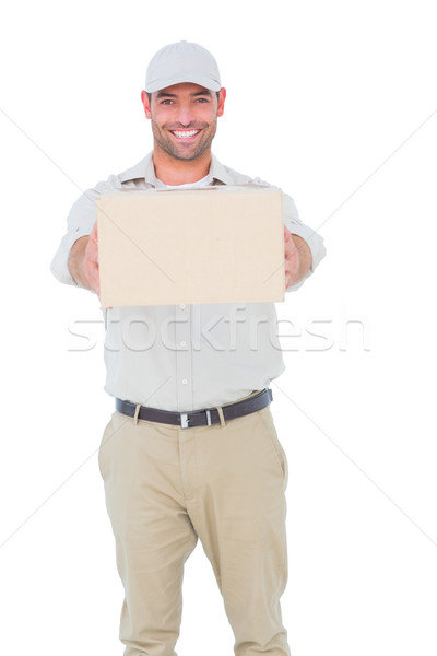 портрет счастливым пакет белый человека Сток-фото © wavebreak_media