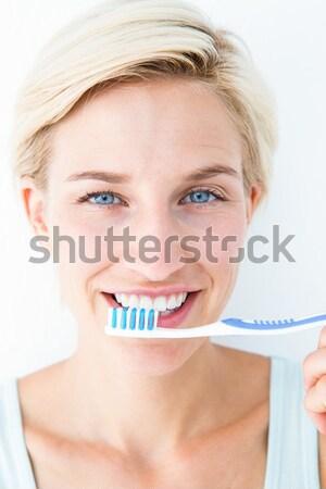 счастливым улыбаясь белый женщины красивой Сток-фото © wavebreak_media