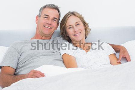 コンテンツ 男 妻 ソファ ホーム ストックフォト © wavebreak_media