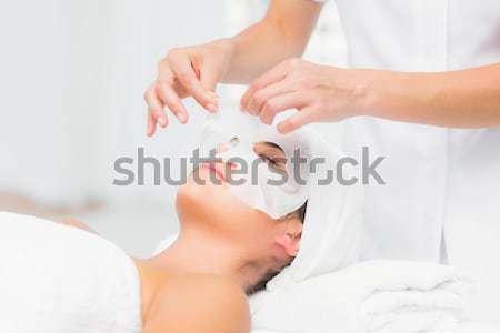 Mulher mão massagem salão de beleza mãos beleza Foto stock © wavebreak_media