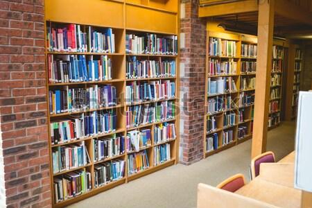 Prateleira de livros biblioteca livro escolas educação Foto stock © wavebreak_media