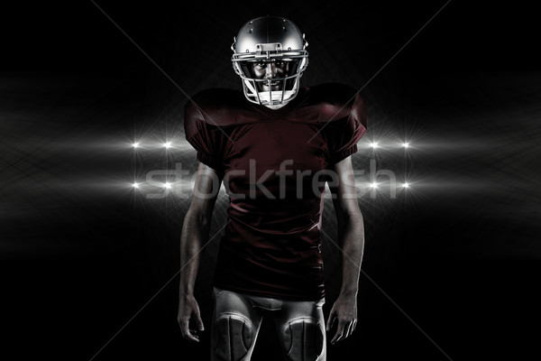 Composite image of portrait of confident american football playe Stock photo © wavebreak_media