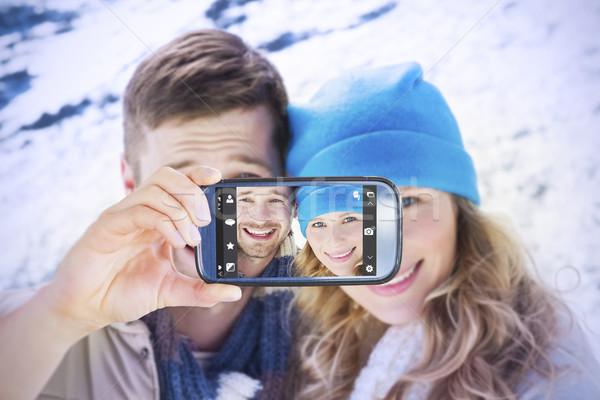 Afbeelding hand smartphone tonen Stockfoto © wavebreak_media