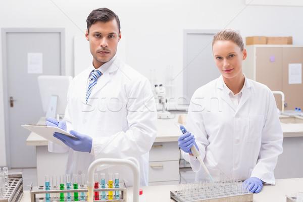 Bilim adamları laboratuvar kadın teknoloji Stok fotoğraf © wavebreak_media