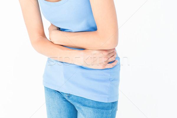 Kadın mide ağrı beyaz vücut Stok fotoğraf © wavebreak_media