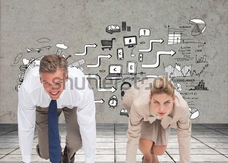 изображение деловые люди готовый начала гонка Сток-фото © wavebreak_media