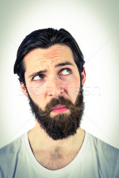 Knap denken mannelijke verward Stockfoto © wavebreak_media