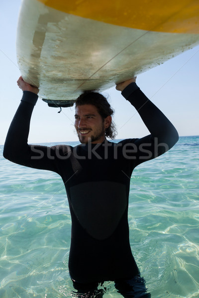Surfer tavola da surf testa spiaggia costa Foto d'archivio © wavebreak_media
