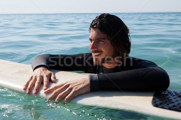 ファー サーフボード 海 笑みを浮かべて ビーチ ストックフォト © wavebreak_media