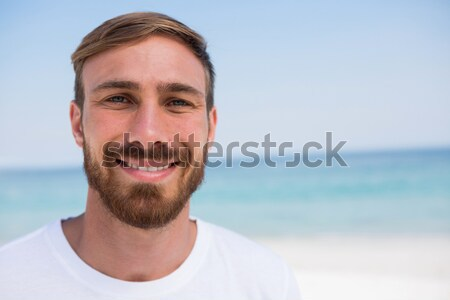 Stock photo: Close up portrait of young man