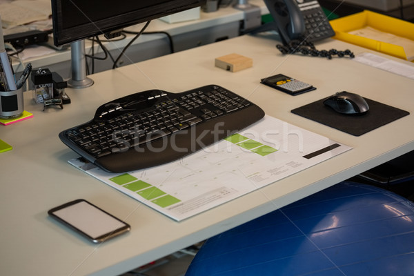 Fitness ball at desk Stock photo © wavebreak_media