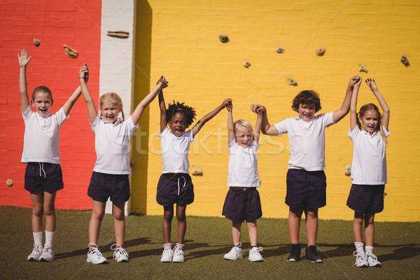 Szczęśliwy uczennice stałego strony dziewczyna szkoły Zdjęcia stock © wavebreak_media