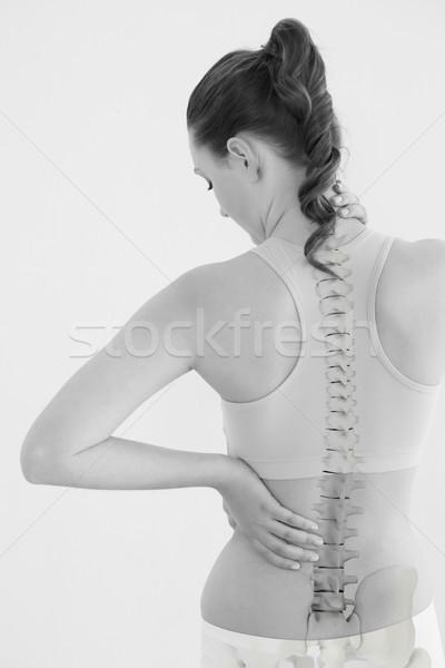 Vue arrière Homme souffrance blanche santé Photo stock © wavebreak_media