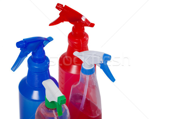 различный моющее средство бутылок белый фитнес бутылку Сток-фото © wavebreak_media