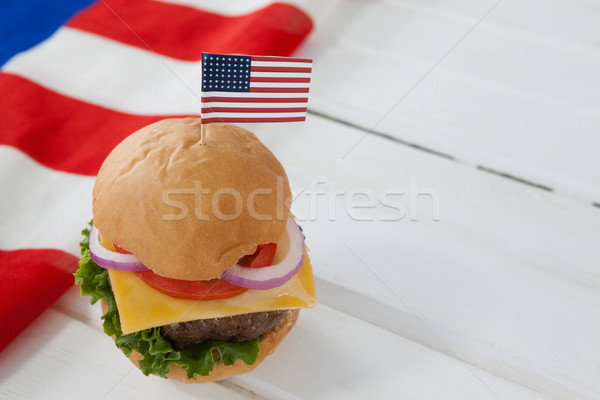 Hamburger with 4th july theme Stock photo © wavebreak_media