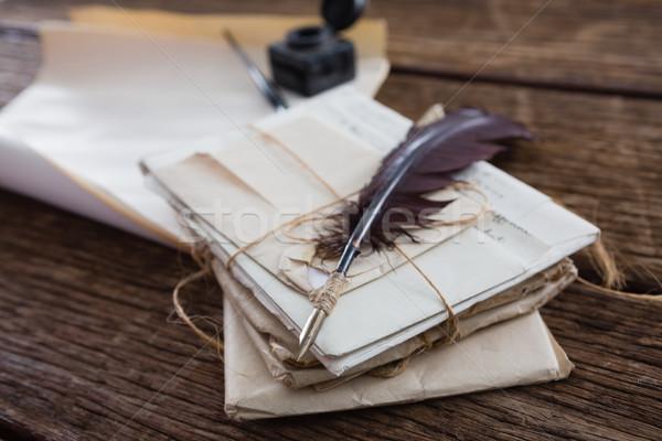 Перу правовой документы таблице деревянный стол бумаги Сток-фото © wavebreak_media