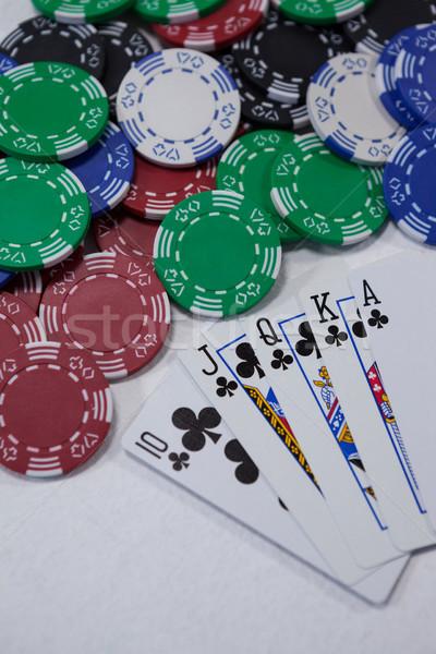 игральных карт фишки казино белый успех играть Сток-фото © wavebreak_media