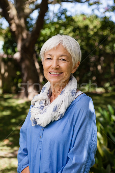 Portrait of smiling senior woman Stock photo © wavebreak_media