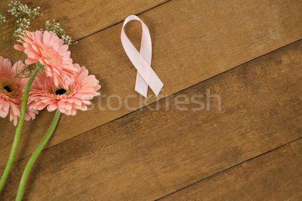 Rose cancer du sein conscience ruban fleurs Photo stock © wavebreak_media