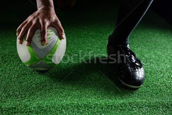 Ballon de rugby domaine blanche Photo stock © wavebreak_media