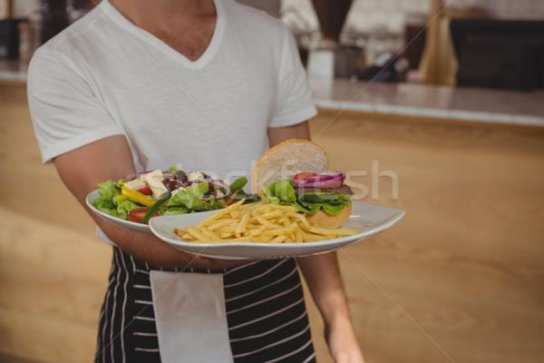 Cameriere piatto alimentare cafe Foto d'archivio © wavebreak_media