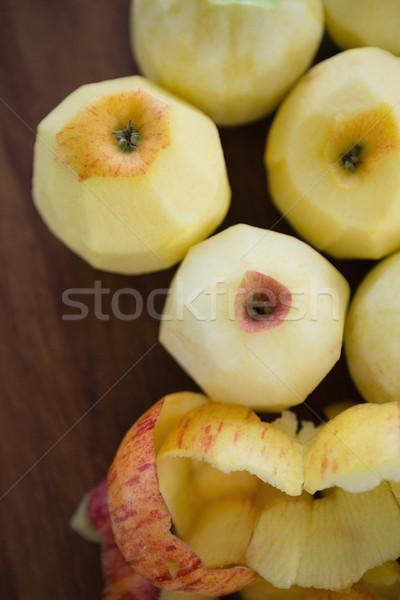 Ver fresco maçãs madeira borboleta ovo Foto stock © wavebreak_media