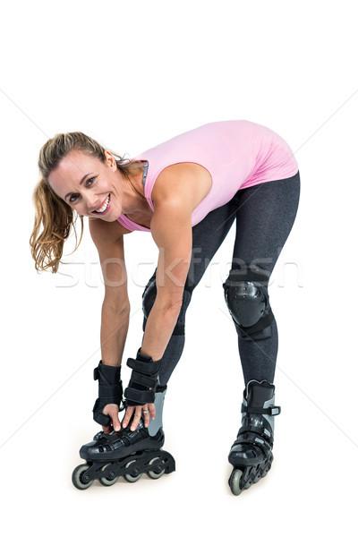 портрет счастливым женщину коньки Сток-фото © wavebreak_media