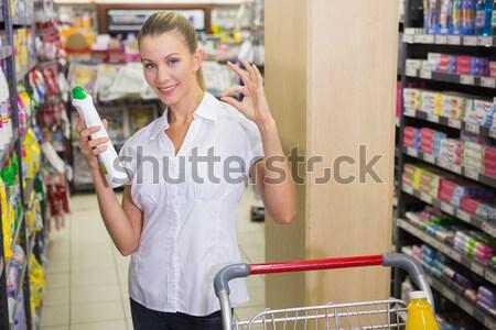 Senior vrouw foto product plank Stockfoto © wavebreak_media