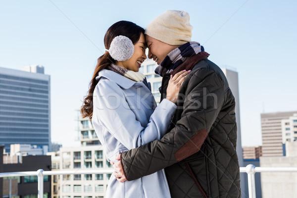 привязчивый пару зданий голову женщину здании Сток-фото © wavebreak_media